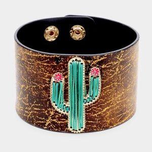 Boho Cactus Cuff Bracelet